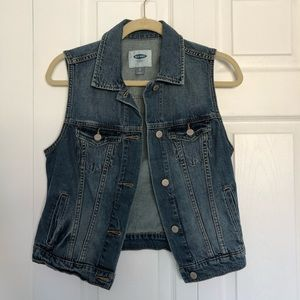 Old Navy sleeveless blue denim jacket, XS